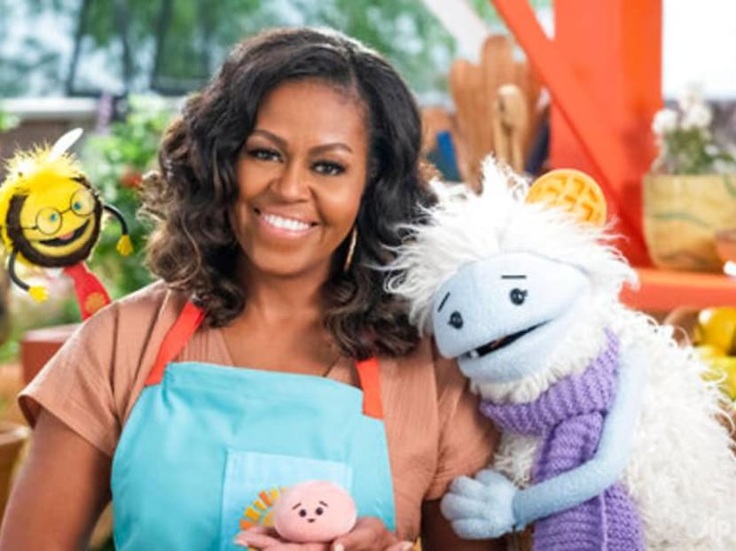 Michelle Obama to team up with puppets for a kids' food show on Netflix