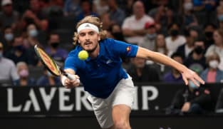 Tsitsipas takes shoe break in Laver Cup win over Kyrgios