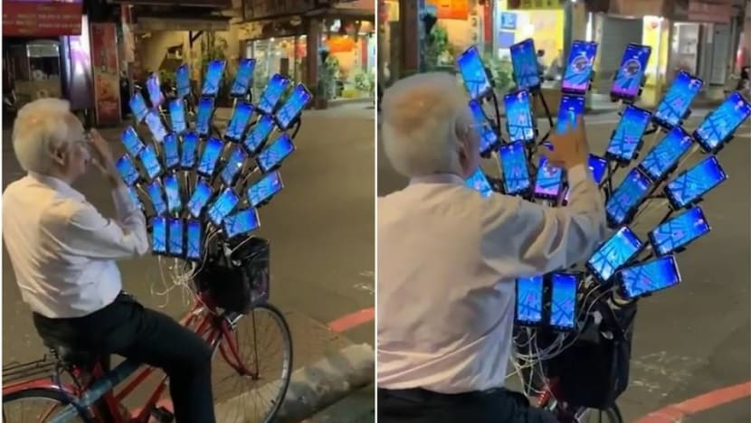 Taiwanese 'Pokemon Go grandpa' levels up with 30 phones to catch them all