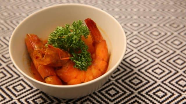 食谱:黄梨虾咖喱 Prawn and Pineapple Curry