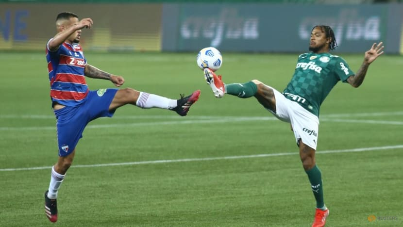 Soccer: Palmeiras lose to injury time goal but stay top in Brazil
