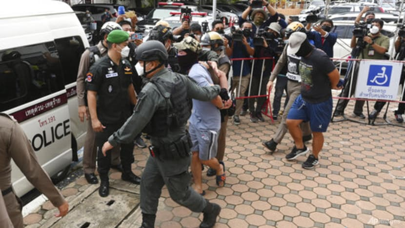Thailand launches manhunt for policemen after torture video