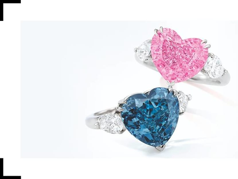 Two coloured diamond rings to fetch more than US$15.2 million at July auction
