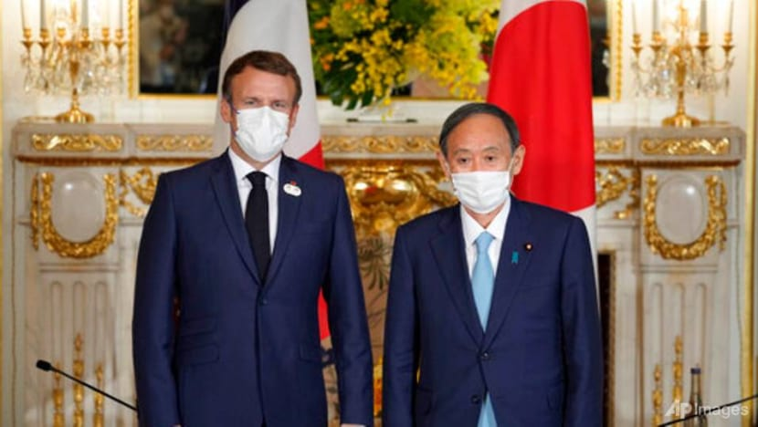 Macron meets Japan PM on Olympic visit