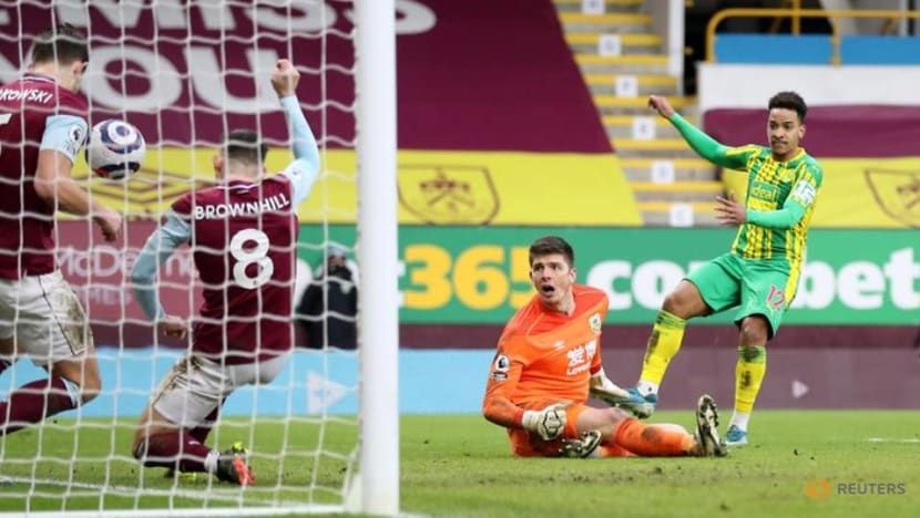 Football: Burnley held to stalemate at home by 10-man West Brom