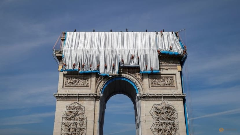Masterpiece or monstrosity? Tourists bemused by Arc de Triomphe artwork