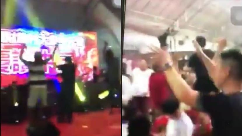 Getai performer who shouted gang-related slogans at Yishun show to be charged