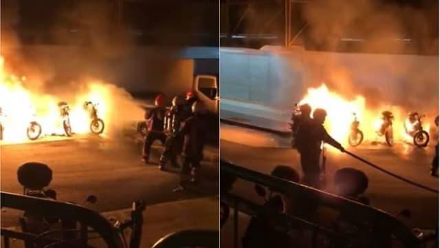 文礼恶作剧纵火烧车 涉案33岁男子被捕