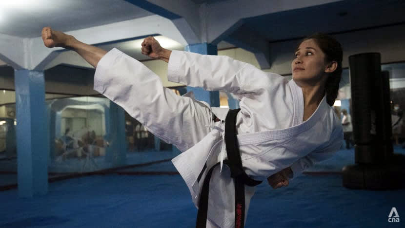 'Karate is a part of my life': Afghan champion keeps hope alive for refugees stranded in Indonesia