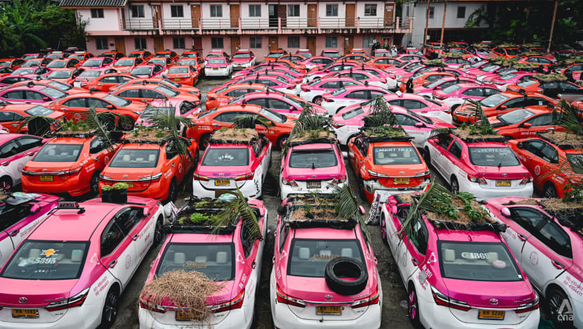 Taxi cab gardens emerge in Bangkok as drivers quit and debts grow