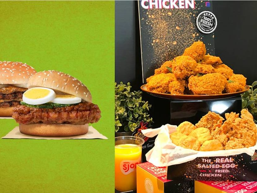 Local twists to fast food with laksa burger and salted egg fried chicken