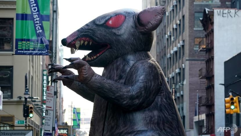 Ballooning dispute: America's giant inflatable rats under attack