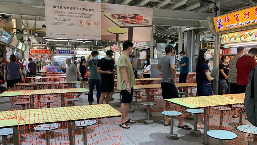 NEA 'encouraged' by takeaway orders at hawkers, reminds patrons to maintain safe distancing