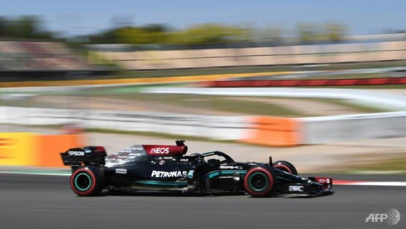 Formula 1: Ecstatic Hamilton celebrates his 100th pole in Spain