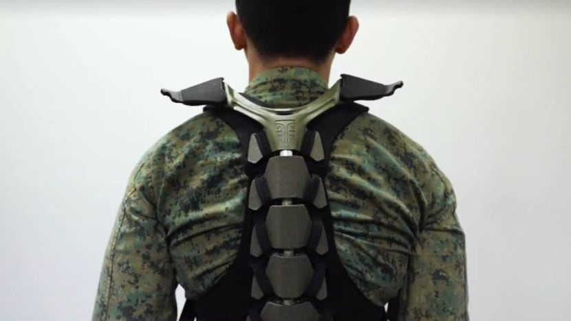 Singapore Army trials titanium exoskeleton designed to reduce load on soldiers