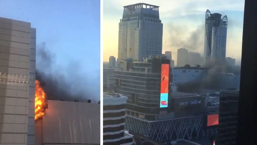 Fire breaks out at Bangkok's CentralWorld shopping complex, at least 2 dead