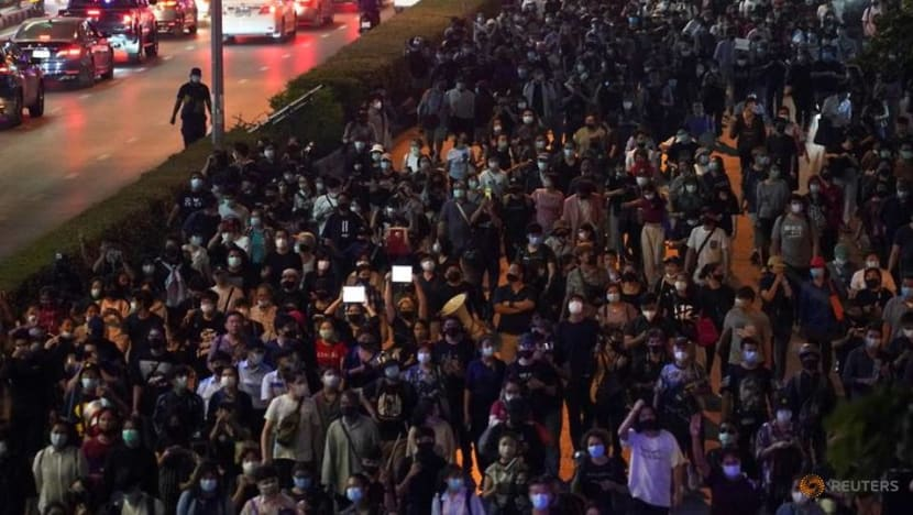 Thai protesters take to streets in protest at royal insults law