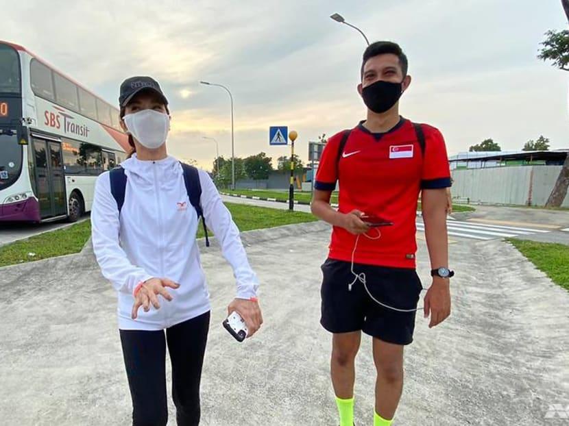 Veteran actress Zoe Tay joins CNA journalists on their walk around Singapore