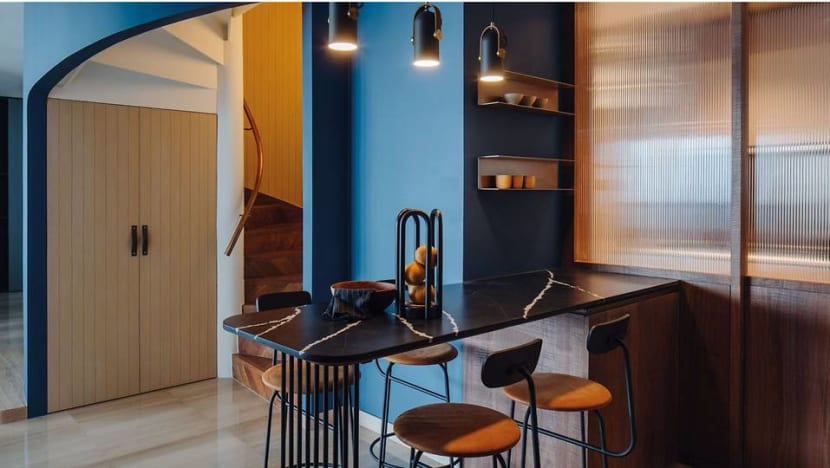 Turning a penthouse with an awkward floorplan into a stylish designer home