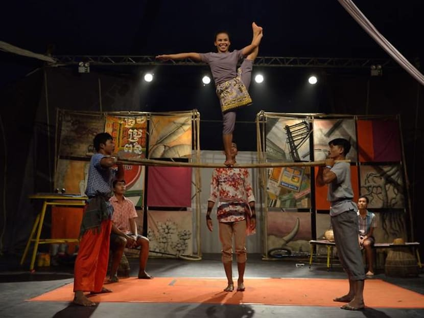 Watch a Cambodian circus when the Singapore Biennale kicks off this weekend