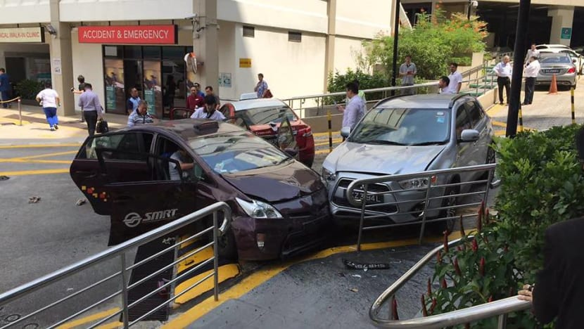 Cabby admits stepping on wrong pedal in crash at Gleneagles Hospital that left 1 dead, 5 injured