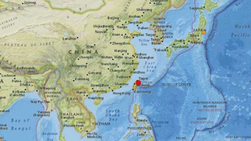 One dead after 5.9-magnitude quake jolts Taiwan