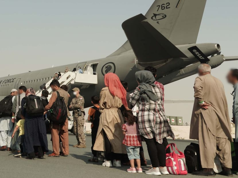 RSAF tanker-transport plane lands in Germany with 149 evacuees from Afghanistan