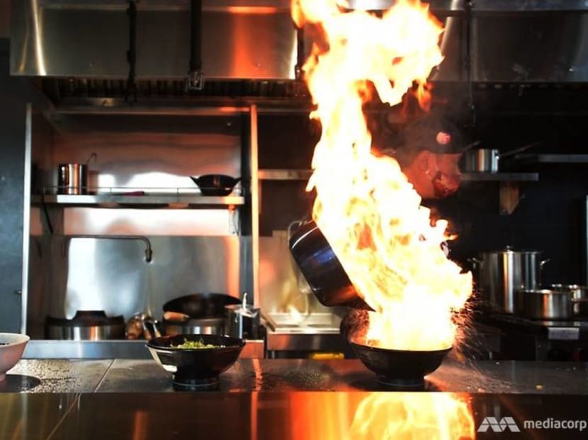 Noodles topped with a towering flame: Sneak peek at Menbaka Fire Ramen