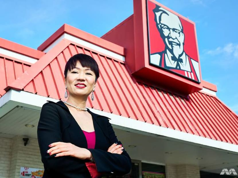 Is that 'real' chicken in the fryer? We ask the woman who runs KFC Singapore