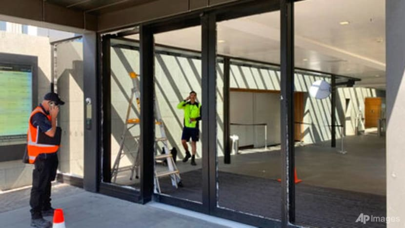 Man smashes New Zealand parliament doors with axe