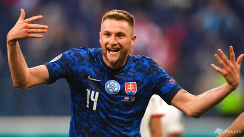 Football: Skriniar lifts Slovakia to 2-1 win over 10-man Poland