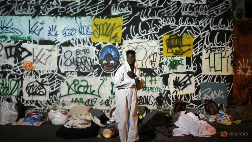 Rio's homeless brave unprecedented cold