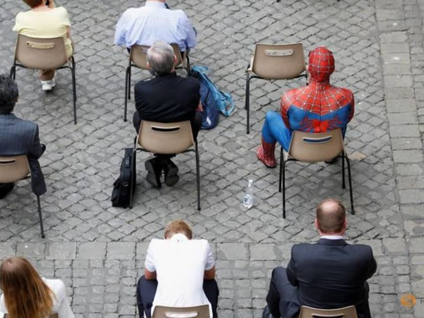 Far from home? Spiderman drops in at the papal audience