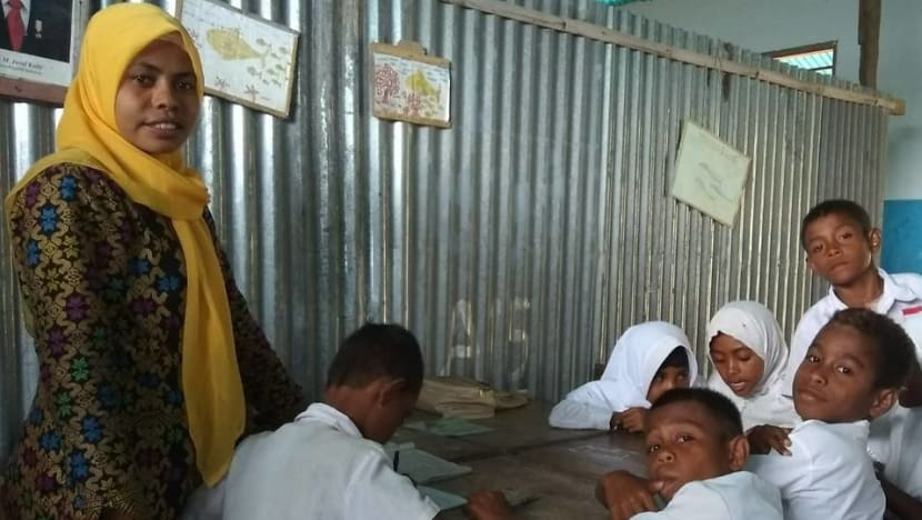 'I cannot move the lessons online': Educators in remote Indonesia visit students one by one during school closure
