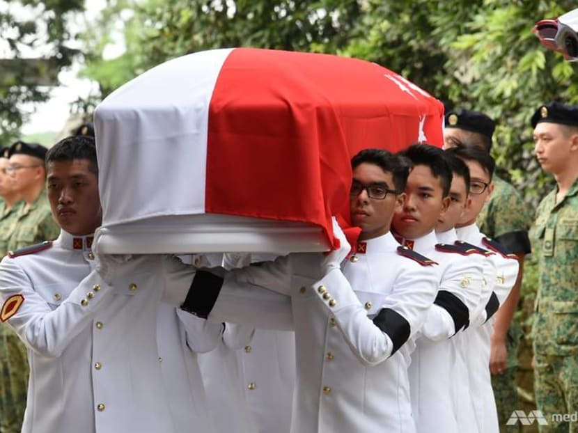 Final farewell as actor Aloysius Pang is given military send-off