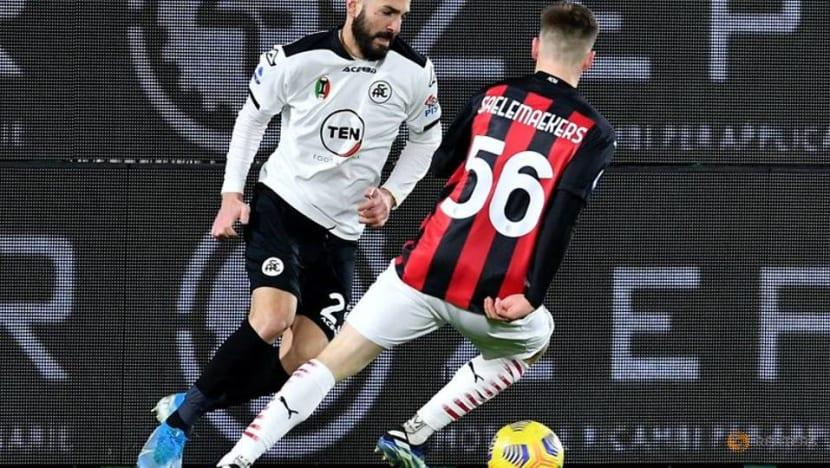 Sensational Spezia earn shock victory over leaders AC Milan