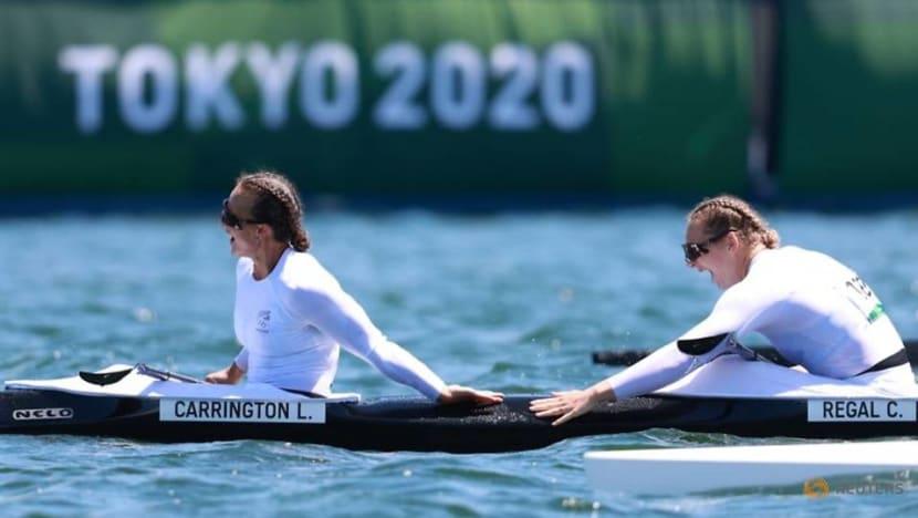 Olympics-Canoe sprint-New Zealand's Carrington, Regal win women's kayak double 500m gold