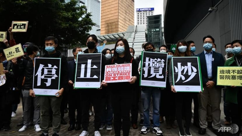 Hong Kong medical staff strike for third day as locally transmitted coronavirus cases rise