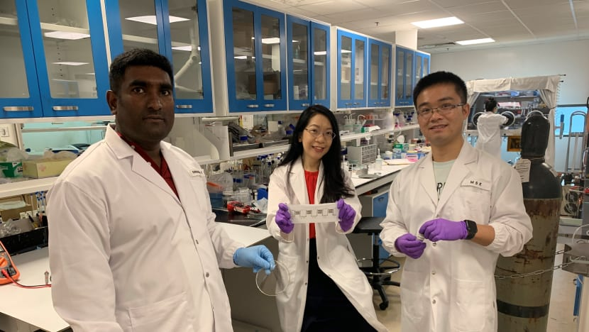 NTU scientists develop sweat-powered battery for wearable devices