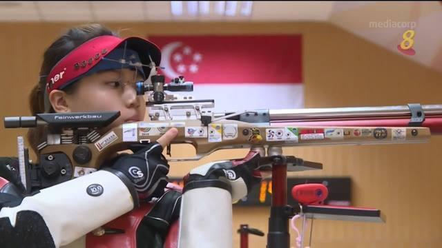 射击选手陈芊秀回母校练习 备战奥运会