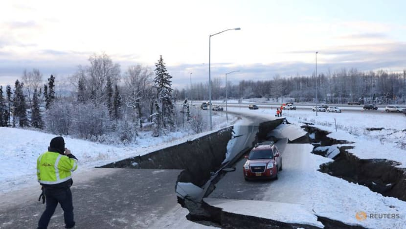 Alaska hit by powerful earthquake, roads and buildings damaged