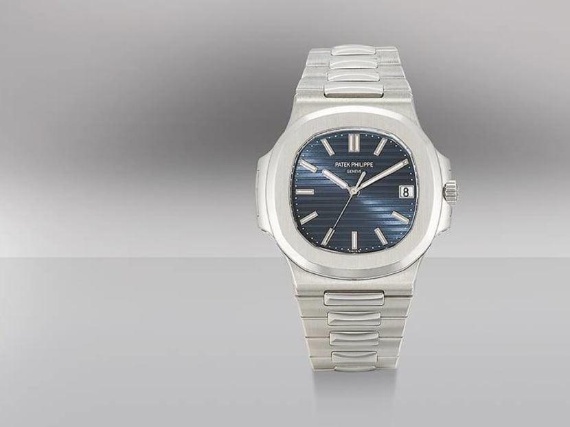 A Patek Philippe Nautilus sells for almost S$700,000 at an online watch auction