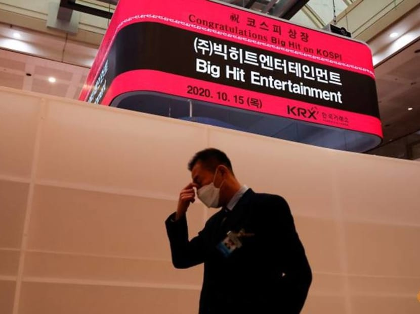 BTS manager Big Hit takes a beating as stock loses more than a fifth