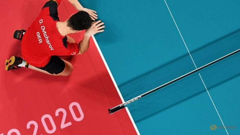 Olympics-Table Tennis-China's Ma retains men's singles crown