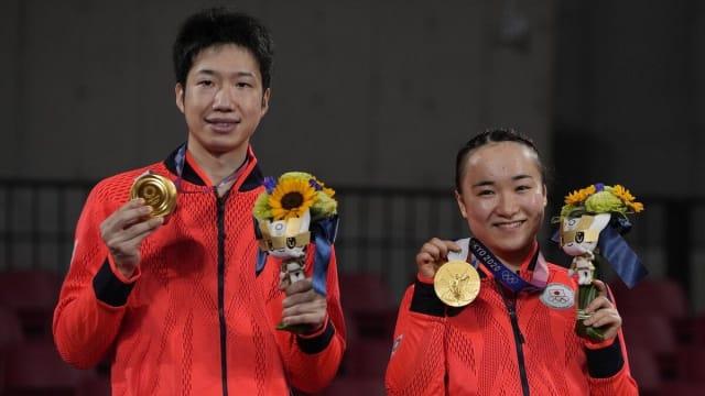 获东京奥运乒乓混双金牌后退役 水谷隼或加入娱乐圈