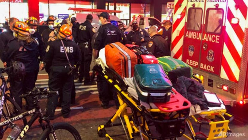 Car ploughs into Manhattan protest, injuring several; driver detained
