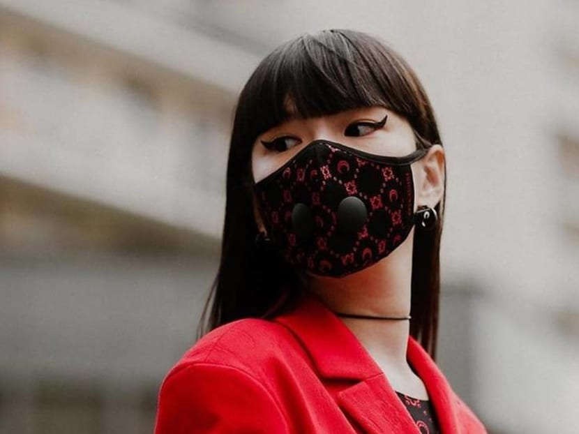 Face masks become latest trending accessory at Paris Fashion Week show