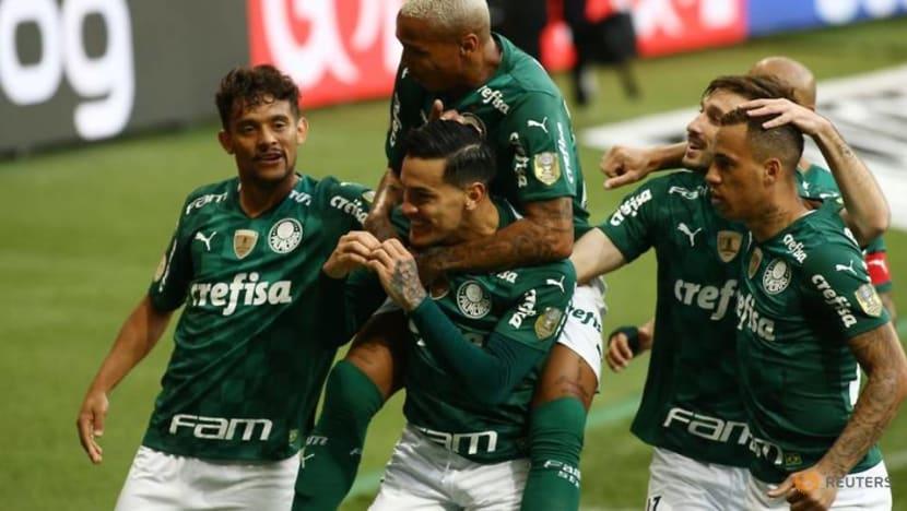 Soccer-Palmeiras go top in Brazil with 3-2 win over Santos