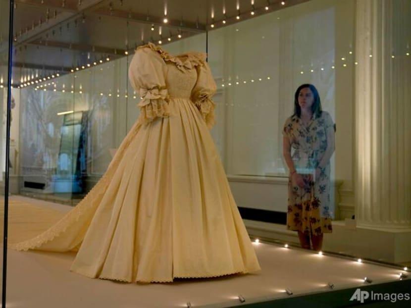 Princess Diana's wedding dress goes on public display in London