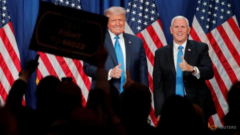 A handshake and a dearth of masks at Pence's Republican convention speech